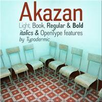Akazan font