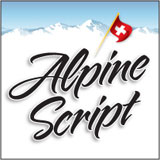 Alpine Script font from Borges Lettering