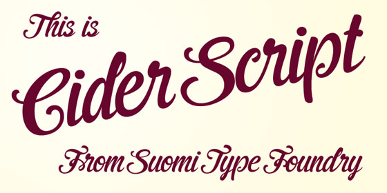 STF Cider Script font family