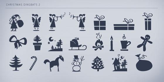 HVD Christmas Dingbats 2 font family