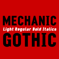 Mechanic Font Family by Darren Scott